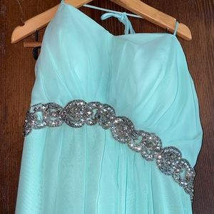 fiesta aqua long dress